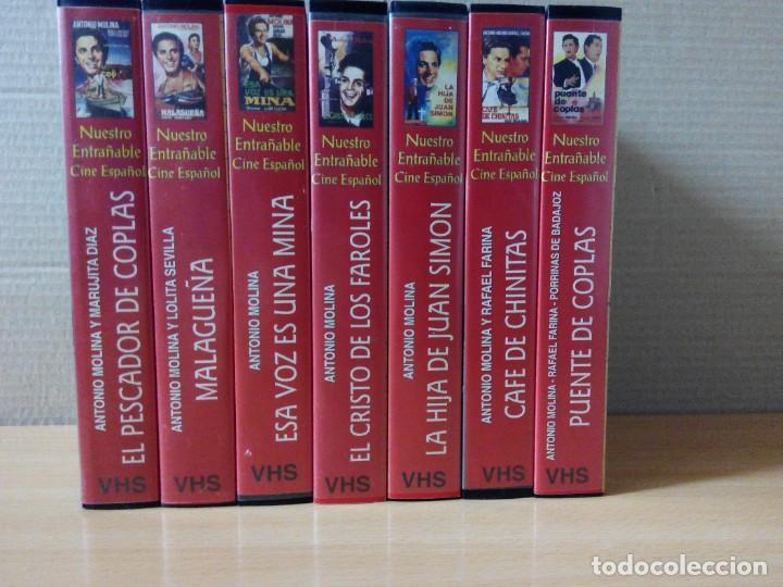 COLECCION DE 7 VIDEOS EN VHS DE TODAS LAS PELICULAS DE ANTONIO MOLINA + REGALO (Series TV en VHS )