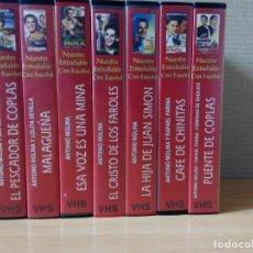 Series de TV: COLECCION DE 7 VIDEOS EN VHS DE TODAS LAS PELICULAS DE ANTONIO MOLINA + REGALO. Lote 287220598