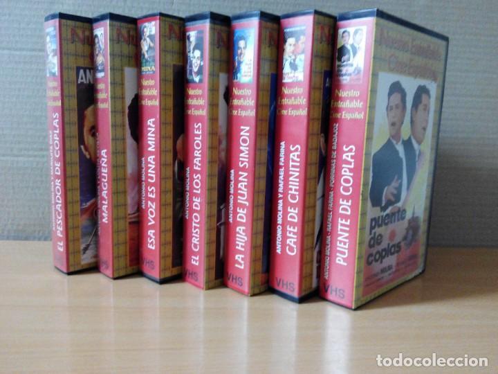 Series de TV: COLECCION DE 7 VIDEOS EN VHS DE TODAS LAS PELICULAS DE ANTONIO MOLINA + REGALO - Foto 2 - 287220598