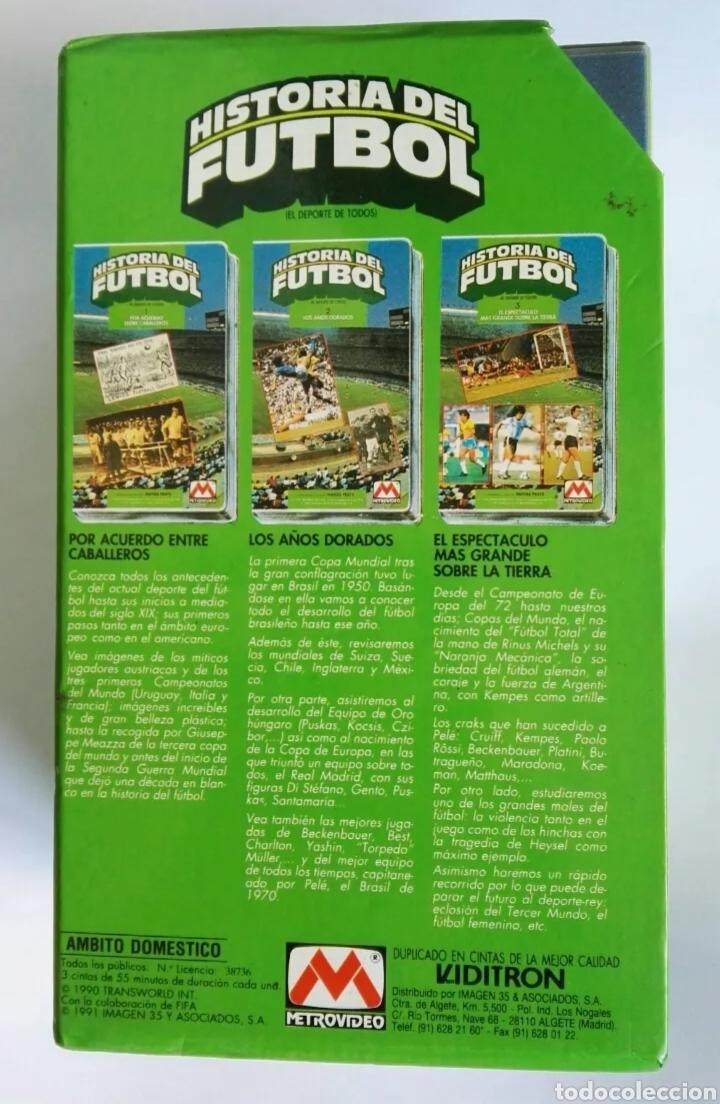 Series de TV: Historia del fútbol 3 cintas VHS comentarios Matias Prats 1991 - Foto 2 - 287624978