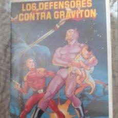 Series de TV: PELICULA VHS. LOS DEFENSORES CONTRA GRAVITON. DIBUJOS ANIMADOS.. Lote 288655238