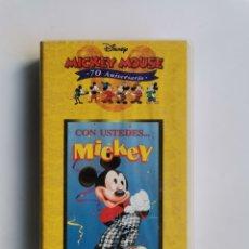Series de TV: CON USTEDES... MICKEY DISNEY 70 ANIVERSARIO VHS. Lote 292024868