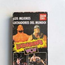 Series de TV: LOS MEJORES LUCHADORES DEL MUNDO WCW BANDAI VHS HULK HOGAN GOLDBERG AÑO 1999. Lote 292025088