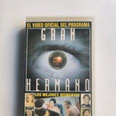 Series de TV: GRAN HERMANO VIDEO OFICIAL VHS LOS MEJORES MOMENTOS. Lote 292039658