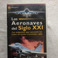 Series de TV: DOCUMENTAL LAS AERONAVES DEL SIGLO XXI DOBLE CINTA VHS. Lote 293680048