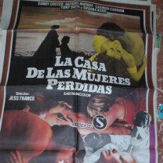 Series de TV: LA CASA DE LAS MUJERES PERDIDAS DE JESUS FRANCO CON LINA ROMAY,CARTEL ORIGINAL 100 X 70. Lote 26279691