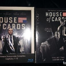 Series de TV: HOUSE OF CARDS TEMPORADAS 1 Y 2 BLU RAY EDICIÓN ESPAÑA DIGIPAK T1 T2. Lote 103172887