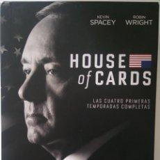 Series de TV: HOUSE OF CARDS (TEMPORADAS 1, 2, 3, 4) (16 DISCOS BLURAY). Lote 123047703