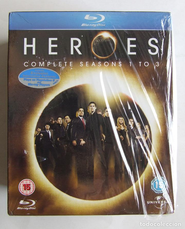 BLU-RAY SERIE HEROES TEMPORADAS COMPLETAS 1 2 Y 3 ESTADO IMPECABLE (Series TV en Blu -Ray )