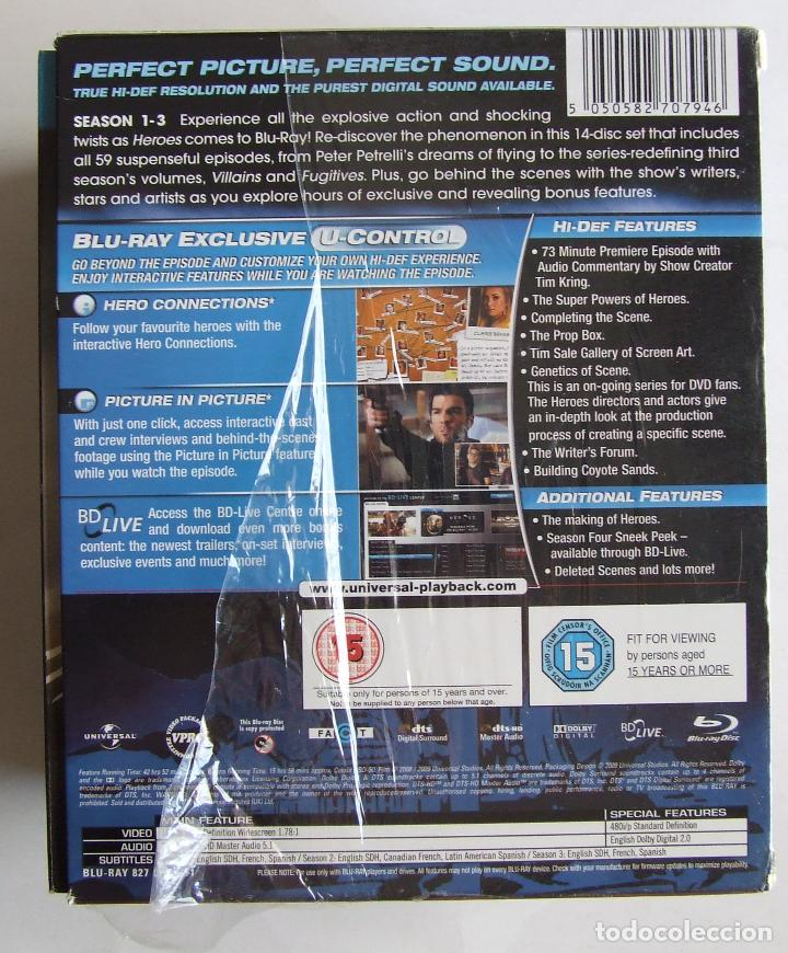 Series de TV: BLU-RAY SERIE HEROES TEMPORADAS COMPLETAS 1 2 Y 3 ESTADO IMPECABLE - Foto 3 - 132065030