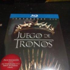 Series de TV: BLURAY. JUEGO DE TRONOS. PRIMERA Y SEGUNDA TEMPORADAS. PACK INICIACIÓN. PRECINTADO.. Lote 141469672