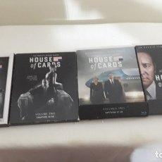 Series de TV: HOUSE OF CARDS 1 A 4 Tª (16 BLU-RAY). LAS CUATRO PRIMERAS TEMPORADAS EN CASTELLANO. Lote 182907146