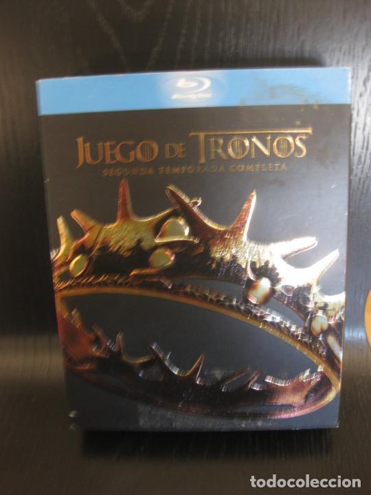 JUEGO DE TRONOS. SEGUNDA TEMPORADA COMPLETA. 5 DISCOS CON MUCHOS EXTRAS. BLU-RAY DISC. (Series TV en Blu -Ray )