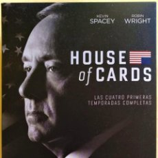 Series de TV: HOUSE OF CARDS (TEMPORADAS 1, 2, 3, 4) (16 DISCOS BLURAY). Lote 218711776