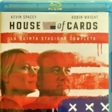 Series de TV: HOUSE OF CARDS (TEMPORADAS 5) (4 DISCOS BLURAY). Lote 218712170