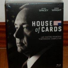 Series de TV: HOUSE OF CARDS 1-4 TEMPORADAS COMPLETAS 16 BLU-RAY NUEVO PRECINTADO (SIN ABRIR). Lote 275281603