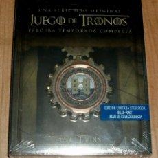 Series de TV: JUEGO DE TRONOS 3ª TEMPORADA COMPLETA EDICION LIMITADA STEELBOOK 5 BLU-RAY NUEVO PRECINTADO. Lote 277624693