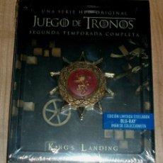 Series de TV: JUEGO DE TRONOS 2ª TEMPORADA COMPLETA EDICION LIMITADA STEELBOOK 5 BLU-RAY NUEVO PRECINTADO. Lote 277626303