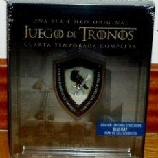 Series de TV: JUEGO DE TRONOS 4º TEMPORADA COMPLETA EDICION LIMITADA STEELBOOK 4 BLU-RAY NUEVO PRECINTADO. Lote 277627013
