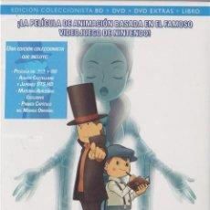 Series de TV: PROFESOR LAYTON Y LA DIVA ETERNA (BLU-RAY + DVD + LIBRO) (EIGA REITON-KYÔJU TO EIEN NO UTAHIME). Lote 288689193