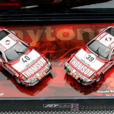 Slot Cars: TEAM 2 COCHES:FERRARI DAYTONA THOMSON DE LAS 24 HORAS DE LE MANS DE FLY. Lote 195091535