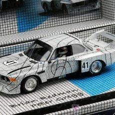 Slot Cars: 96059.BMW 3,5 CSL DE LAS 24 H. DE LE MANS EDICION ESPECIAL ART CAR DE FLY. Lote 191785322