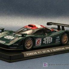 Slot Cars: A-74. EL PORSCHE 911 GT1 98 JEVER VERDE Nº6 DE FLY. Lote 276263503