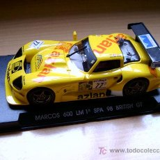 Slot Cars: MARCOS 600 LM 1º SPA BRITISH GT REF A-25 (FLY) DESCATALOGADO!. Lote 27112427