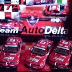 Slot Cars: TEAM 10. COMPLETO CON LOS 3 ALFA 156 DEL EQUIPO AUTODELTA DE FLY. Lote 125258248