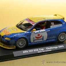 Slot Cars: A-744 - ALFA 147 AZUL DE FLY. Lote 137325833