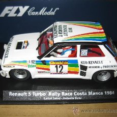 Slot Cars: OFERTA - A-1203 - RENAULT 5 TURBO RED RENAULT DE CARLOS SAINZ AÑO 84 DE FLY. Lote 57649182