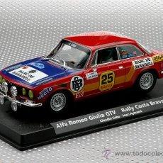 Slot Cars: A-801 - ALFA ROMEO GIULIA DEL RALLY COSTA BRAVA 76 DE FLY. Lote 177691124