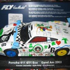 Slot Cars: PORSCHE 911 GT1 EVO DE PAUL NEWMAN DE FLY. Lote 69114613