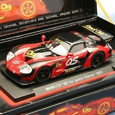 Slot Cars: FLY E221 MARCOS 600LM SPECIAL EDITION S.OLIVER QUICK FLAME. Lote 39452583