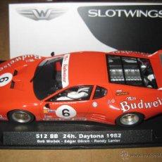 Slot Cars: BLACK FRIDAY - 512 BB BUDWEISER Nº6 SLOTWINGS - FLYSLOT. Lote 233917510