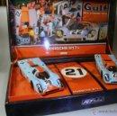 Slot Cars: FLY. SET HISTORICAL TEAMS PORSCHE 917K GULF TEAM 24H LE MANS 1970 ED LIMITADA. Lote 41405522