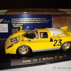 Slot Cars: FLY FERRARI 512 S BERLINETTA SPA 1970. Lote 46871691