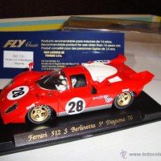 Slot Cars: FLY FERRARI 512S BERLINETTA DAYTONA 1970. Lote 46871741