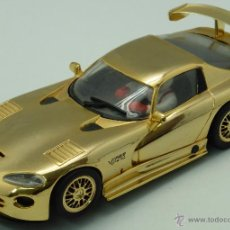 Slot Cars: VITER GTS R FLY SLOT MODEL CAR DORADO. Lote 49995360