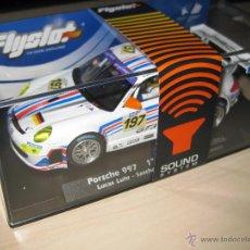 Slot Cars: PORSCHE 997 GANADOR DE LAS 24H DE SPA DE 2006 CON CHIP DE SONIDO DE FLYSLOT. Lote 56488061