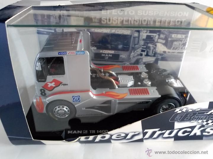 Slot Cars: FLY CAR MODEL CAMION TRUCK 44 L MAN TR 1400 CON LUCES NURBURGRING FIA ETRC 01,FUNCIONA EN SCALEXTRIC - Foto 2 - 53103220