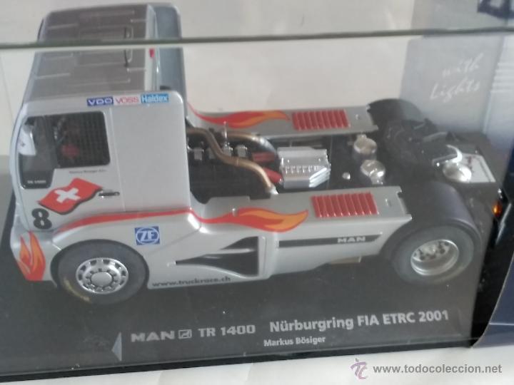 Slot Cars: FLY CAR MODEL CAMION TRUCK 44 L MAN TR 1400 CON LUCES NURBURGRING FIA ETRC 01,FUNCIONA EN SCALEXTRIC - Foto 4 - 53103220