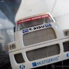 Slot Cars: SLOT CAR MODEL CAMION TRUCK 4L SISU SL 250 FIA ETRC 95 . CON LUCES.. Lote 53158520