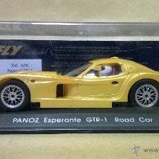 Slot Cars: SLOT SCX FLY PANOZ ESPERANTE GTR-1 ROAD CAR. Lote 54473432