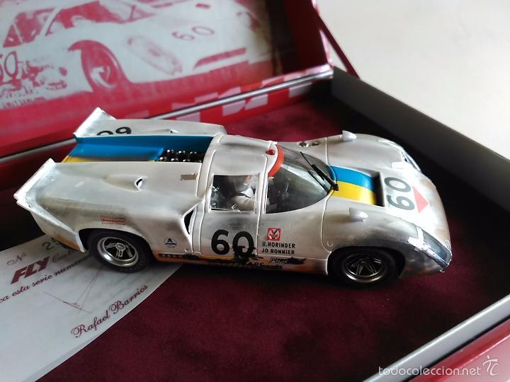 Slot Cars: FLY CAR MODEL LOLA T70 MKIIIB CHEQUERED FLAG ACCIDENTADO. IMPRESIONANTE. NUEVO. - Foto 3 - 57404184