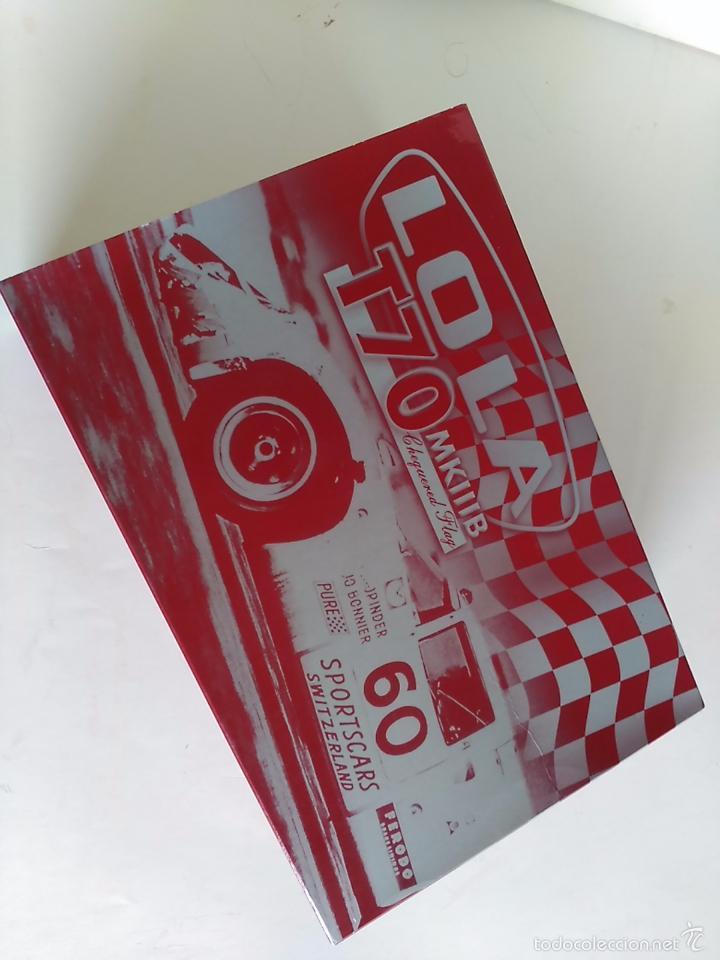 Slot Cars: FLY CAR MODEL LOLA T70 MKIIIB CHEQUERED FLAG ACCIDENTADO. IMPRESIONANTE. NUEVO. - Foto 8 - 57404184
