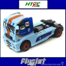 Slot Cars: FLYSLOT CAMION MAN TR1400 #14 GULF SMOLENSK 2010 JEAN BLAISE TRUCK FLY 203310. Lote 146304017