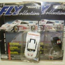 Slot Cars: PORSCHE 911 GT1 EVO,CARROCERÍA + HABITÁCULO, FLY COLLECTION, COLECCIONABLE CON FASCÍCULOS 33-34. Lote 62214540
