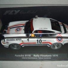 Slot Cars: PORSCHE 911S RALLY FIRESTONE 1970 DE FLY REF.-88145. Lote 77417045