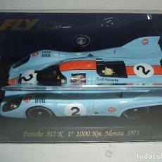 Slot Cars: PORSCHE 917K 1º 1000KM MONZA 1971 DE FLY REF.-C52. Lote 77418353